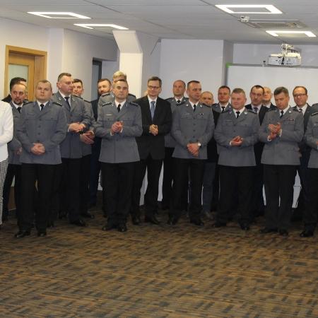 Wielkanocne spotkanie płockich funkcjonariuszy i pracowników policji
